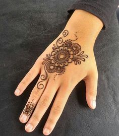 Henna Designs for Kids Backside Hand