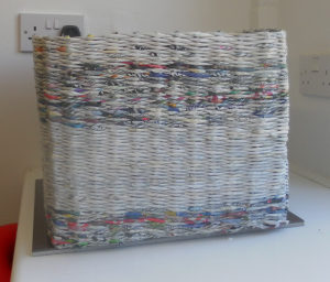 How to Decorate a Newspaper Basket