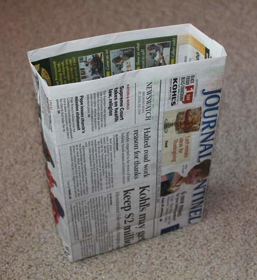 How to Make A Newspaper Bag
