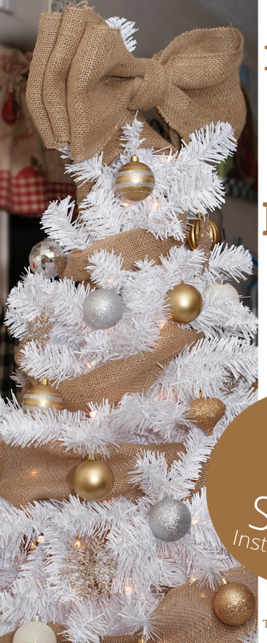 How to Make Burlap Bow Tree Topper