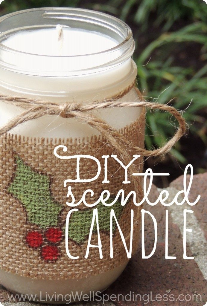 How to Make Easy Mason Jar Candles