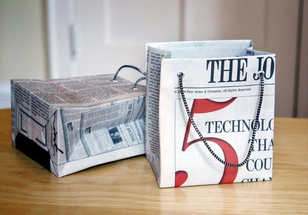 How to Make Handmade Newspaper Bags