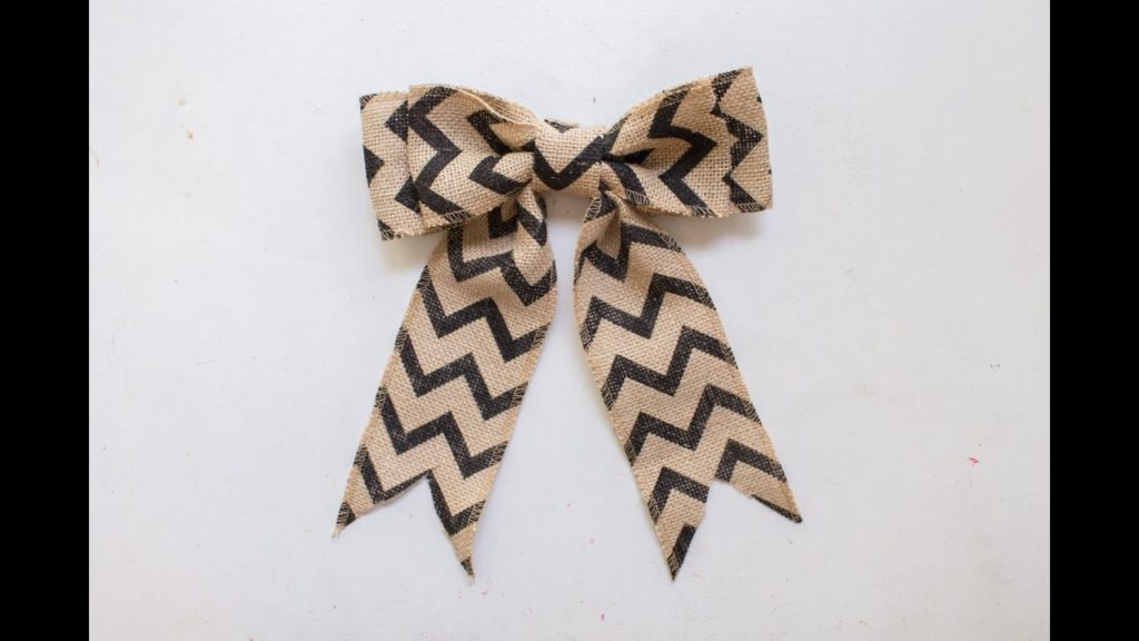 How to Make a Burlap Bow YoutubeHow to Make a Burlap Bow Youtube