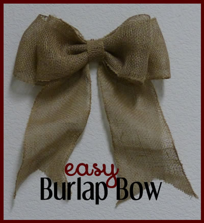 How to Make a Burlap Bow for a Wreath