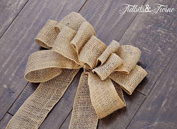 How to Make a Decorative Burlap Bow