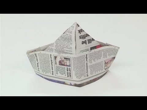 How to Make a Newspaper Hat YoutubeHow to Make a Newspaper Hat Youtube