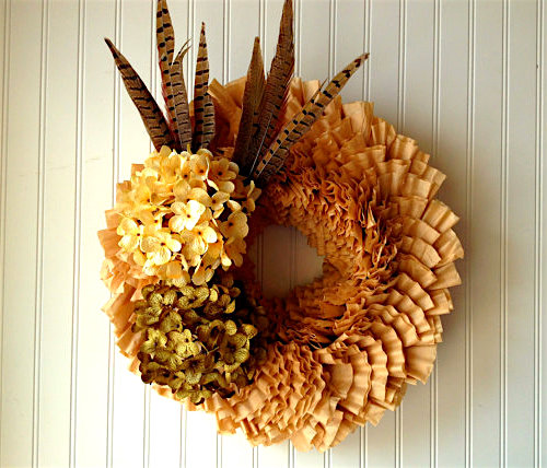 How to Make a Wreath out of Coffee Filters