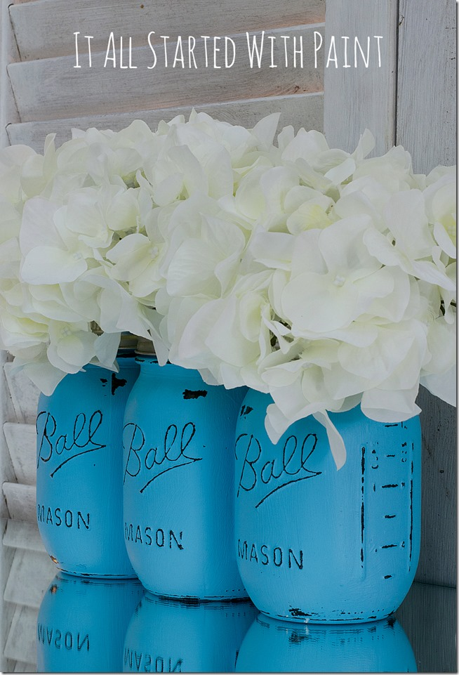 How to Paint Mason Jars with Acrylic Paint