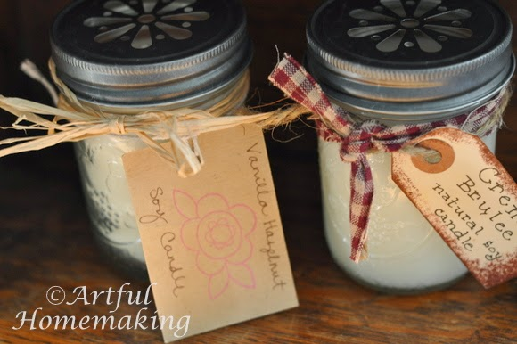 How to make Homemade Candles in Mason Jars