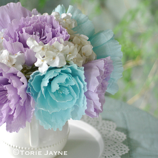 How to make crepe paper flowers peony