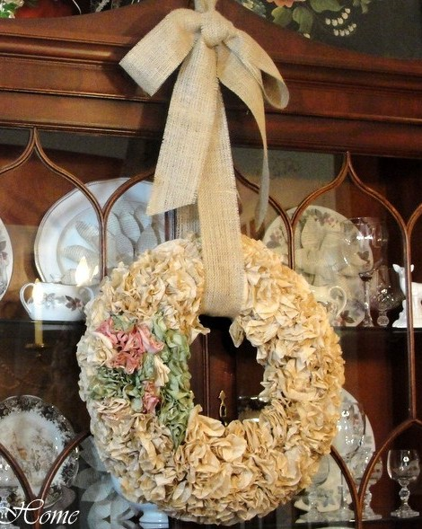 Instructions for coffee filter wreath