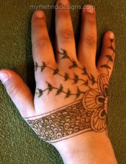 Kids Mehndi Designs Images