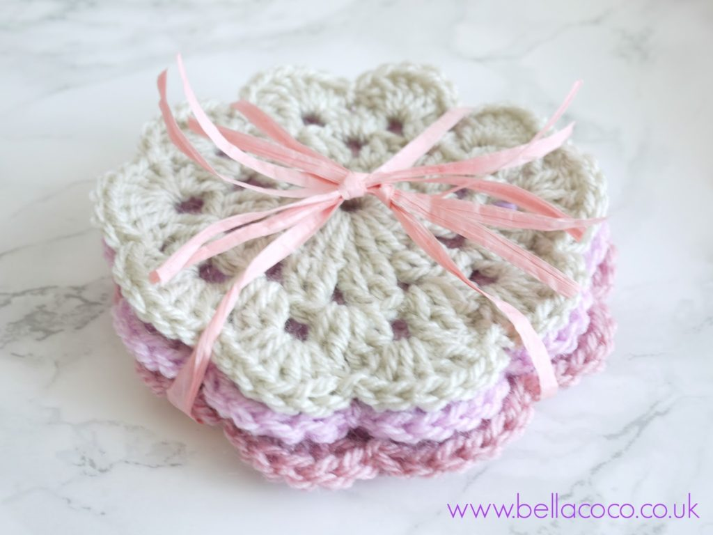 Knit a Crochet Coaster