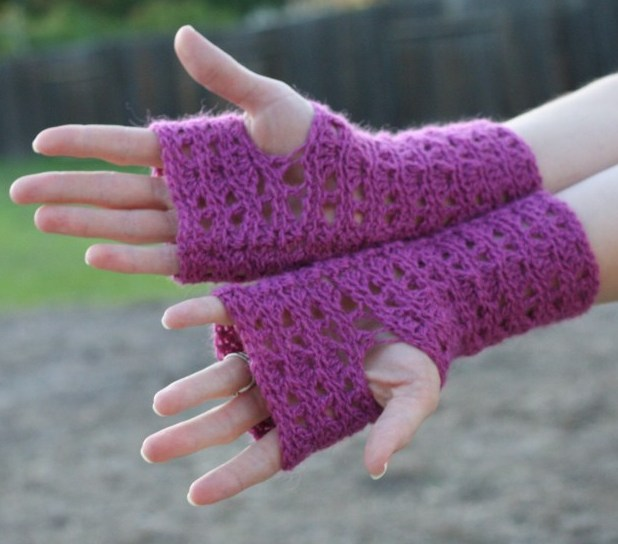Long Fingerless Gloves Crochet Pattern