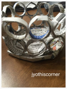 Make Circular Newspaper Basket