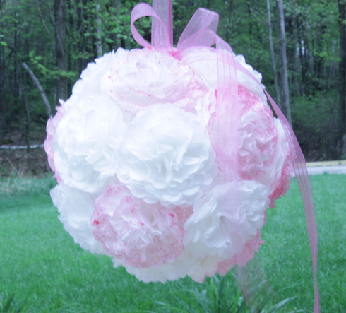 Make Coffee Filter Flower Balls