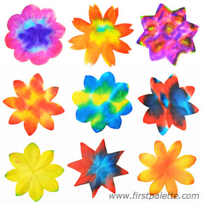 Making Flowers with Coffee Filters