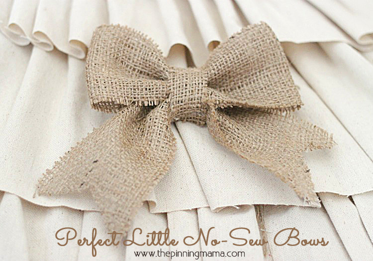 Making a Bow with Burlap