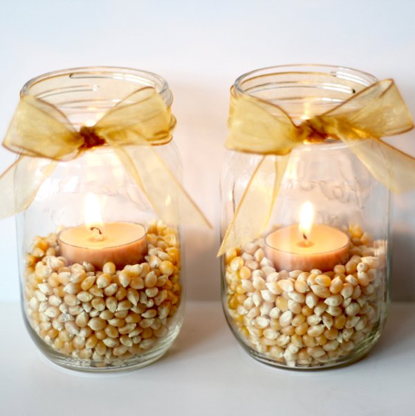 Mason Jar Candle Craft Ideas