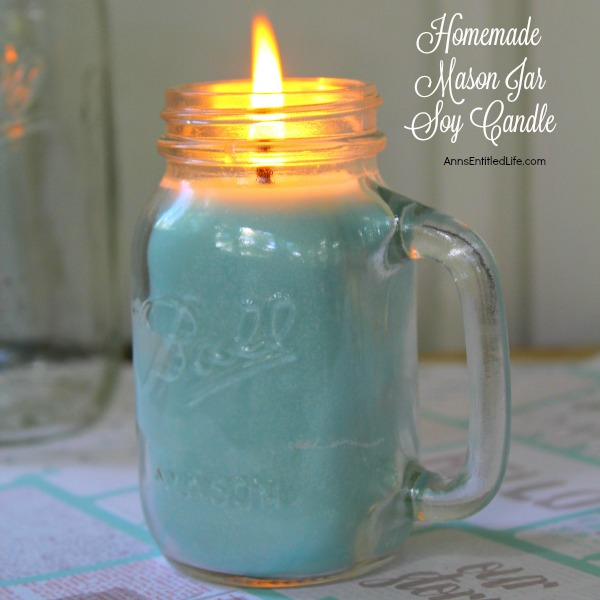 Mason Jar Candle Instructions
