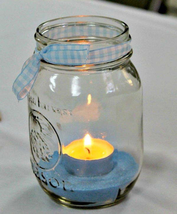 Mason Jar Candles Baby Shower DIY