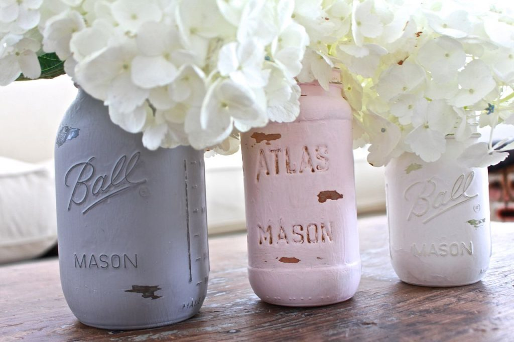 Mason Jar Distressed Paint