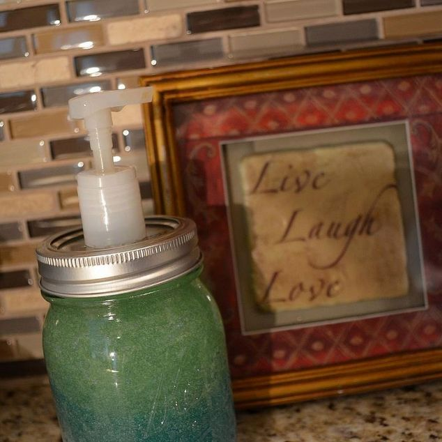 Mason Jar Lid Soap Dispenser