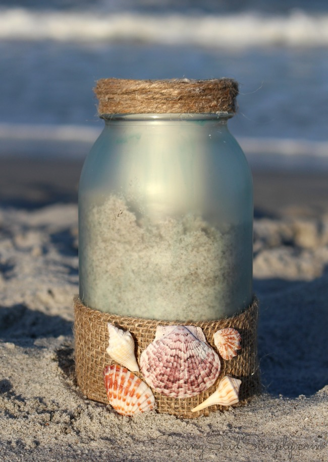 Mason Jar Sand Candle IDeas
