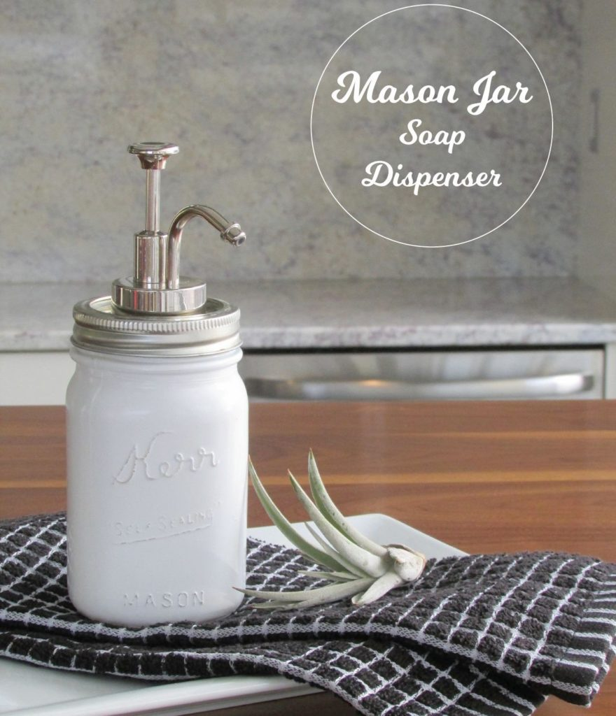Mason Jar Soap Dispenser DIY