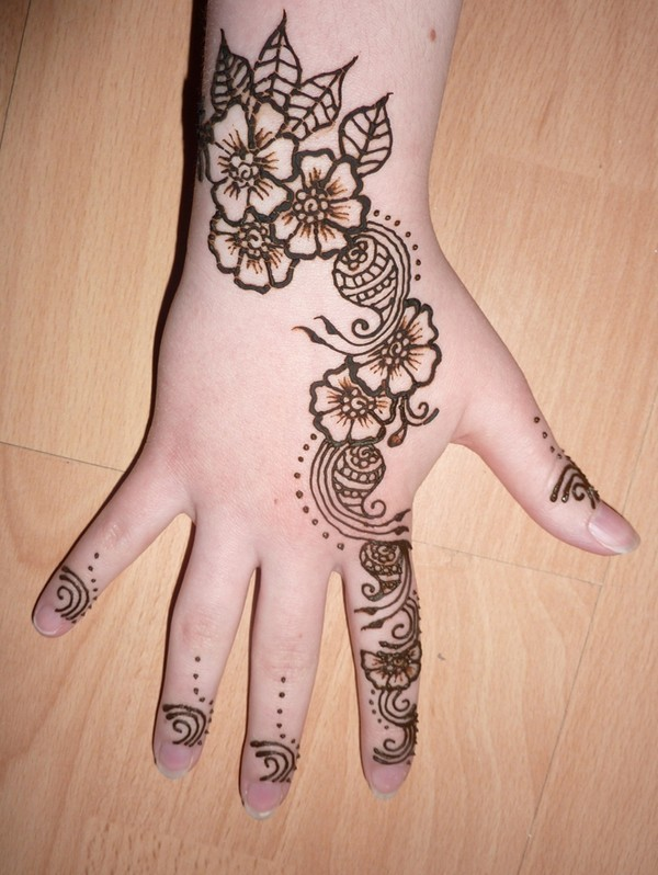 Mehandi Designs for Kid