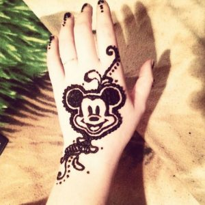 Mehndi Designs Kids Cartoon
