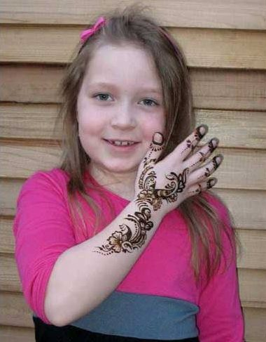 Mehndi Designs for Kids Hands