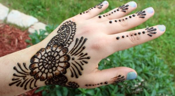 Mehndi Easy Designs for Kids