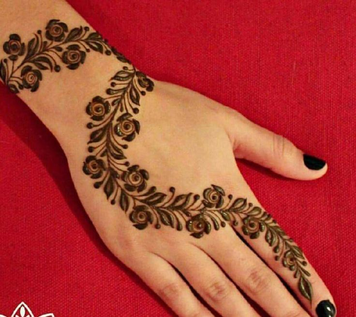 51 easy simple mehndi designs for kids. Black Bedroom Furniture Sets. Home Design Ideas