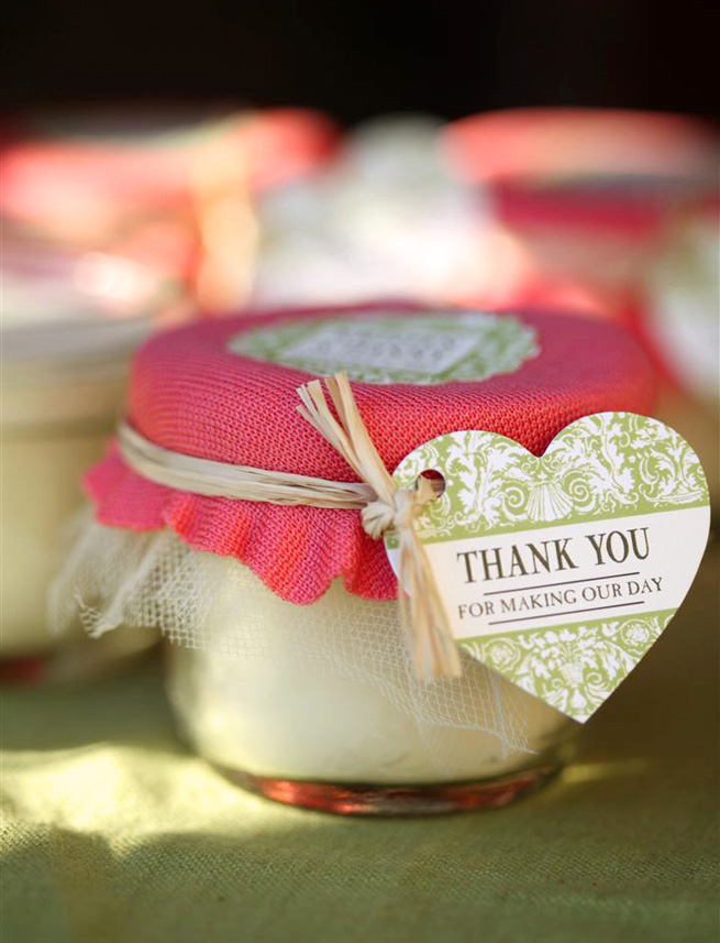Mini Mason Jar Candle Favors