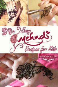 Most Easy Mehndi Designs for Kids