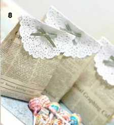 Newspaper Bag Ideas with Lace
