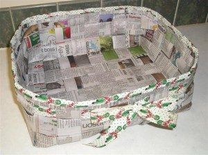 Newspaper Basket Designs