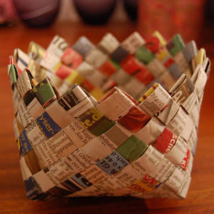 Newspaper Basket Weaving