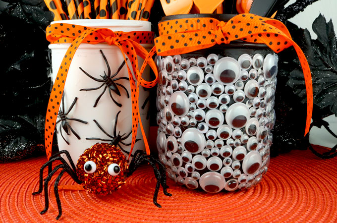 Painted Mason Jar Halloween