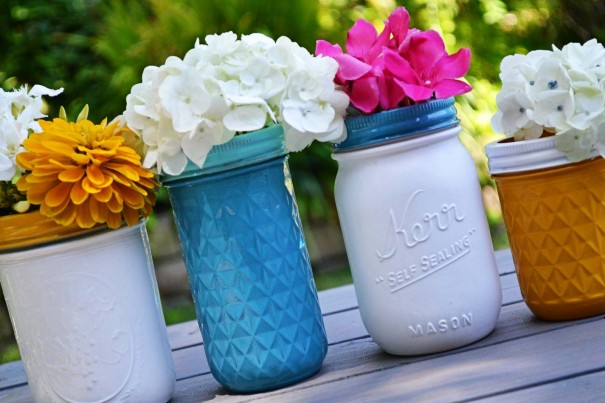 Painted Mason Jar Lids