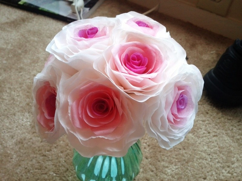 33 diy coffee filter flowers tutorials paper flowers made from coffee filters mightylinksfo
