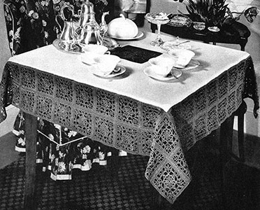 Rectangular Crochet Tablecloth Pattern