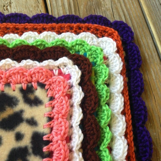 Simple Crochet Borders for Baby Blankets