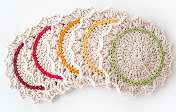 Simple Crochet Coaster Pattern