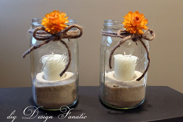 Simple Mason Jar Candles