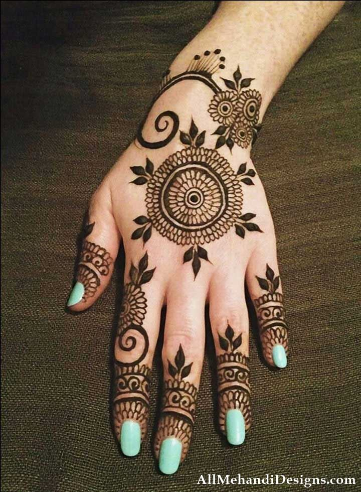 Simple Mehndi Designs for Kids Step by Step