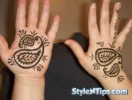 Simple and Easy Mehndi Designs for Kids