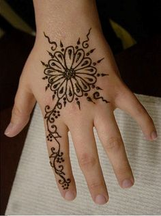Sweet Mehndi Designs Kids