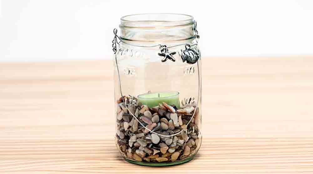 Tea Light Candles in Mason Jars